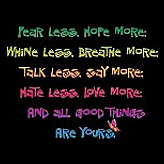 Fear Less Hope More Proverb