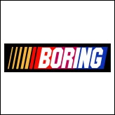 Boring - NASCAR Racing Logo