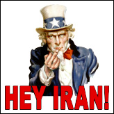 Hey Iran - Uncle Sam With Middle Finger