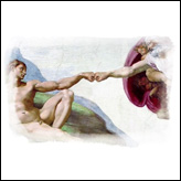 God & Adam Creation Of Man Fist Bump