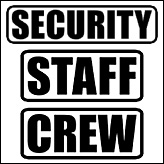Event Security Staff & Crew Gear